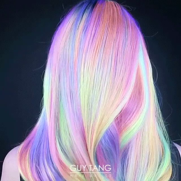 102 Rainbow Hair Color Inspirations That Will Brighten Your Day Sass