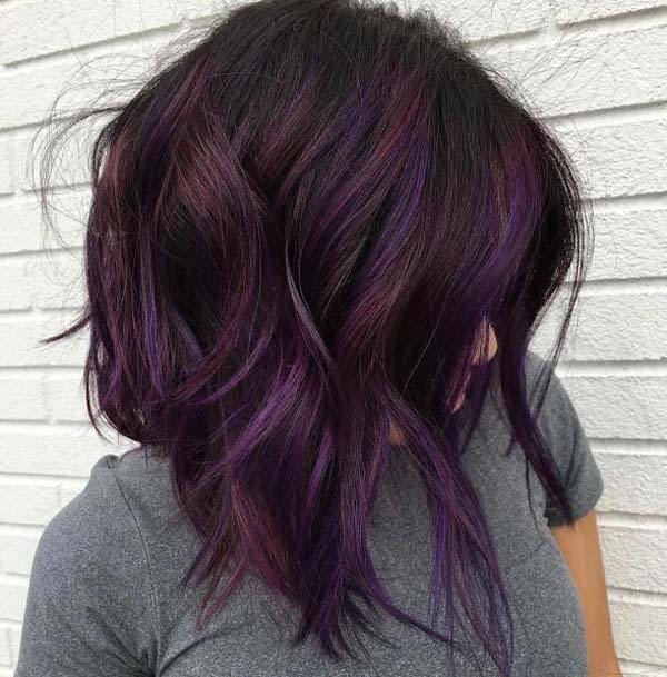 97 Breathtaking Purple Hair Color Styles You Will Love Sass