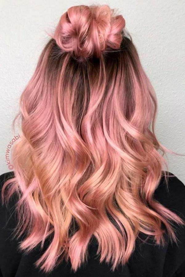 102 Stunning Rose Gold Hair For A New Look Sass